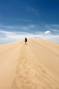 """Hiking to the Top of the Sand Dune"" by Susan Pigott"