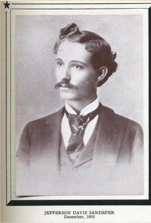 J. D. Sandefer, 1893