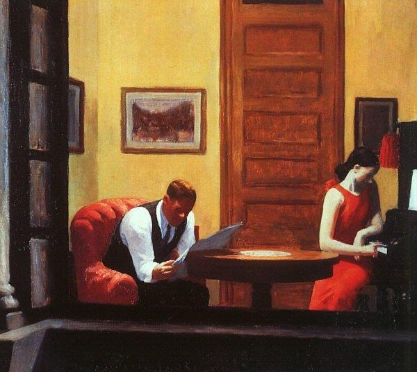 Edward Hopper, Room In New York, Oil On Canvas, 1932, in the F. M. Hall Collection of the Sheldon Memorial Art Gallery and Sculpture Garden, University of Nebraska-Lincoln