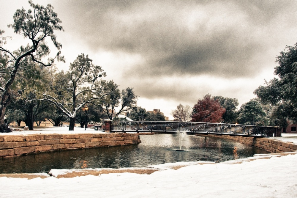 Susan Pigott Snowy Day on the Hardin-Simmons Campus