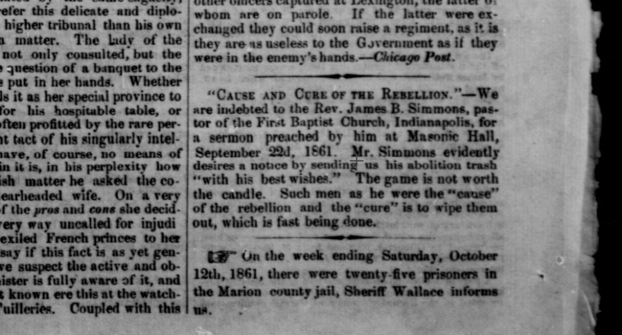 October 21, 1861, Indiana State Sentinel, Volume 21, Number 21