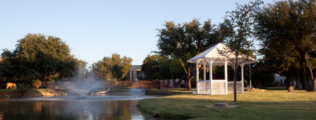 Hardin-Simmons University Pond and Gazebo. Photo credit: HSU Marketing & Communications Office.