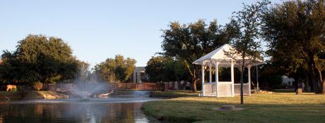 Hardin-Simmons University Pond and Gazebo. Photo credit: HSU Marketing & Communications Office.