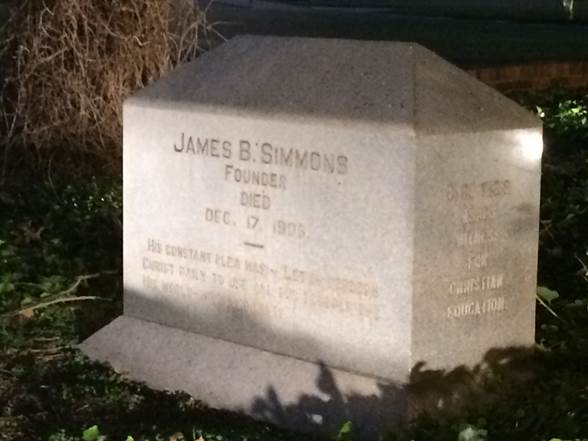 James B. Simmons Marker, Hardin-Simmons University